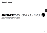 Ducati Supersport 2000 t/m 2003 werkplaats handboek en owners manual_