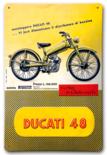 Ducati 48 wandbord