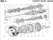 Ducati 750 900 SS 1975/1977 Parts, werkplaats en elektrische schema handboek