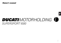 Ducati Supersport 2000 t/m 2003 werkplaats handboek en owners manual