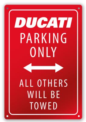 Ducati Parking wandbord
