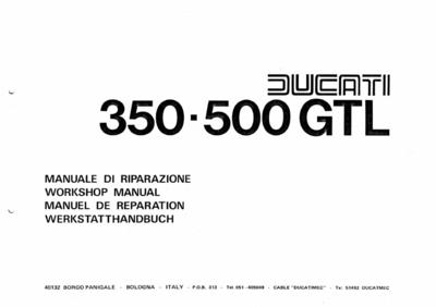 Ducati 350-500 GTL werkplaats & parts handboek