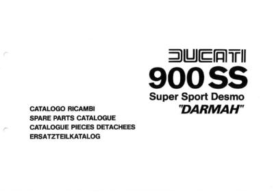 Ducati Darmah - 900SS Werkplaats, owners en parts catalogus