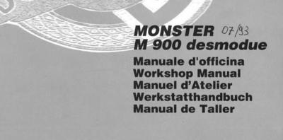 Ducati Monster t/m Bj 1998 werkplaats handboek en owners manual