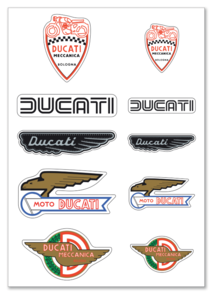 Ducati Classic sticker vel